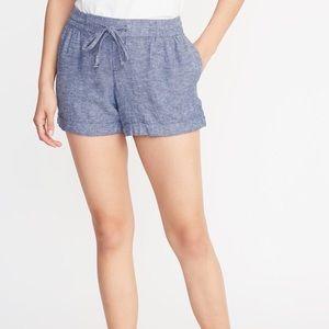 Old Navy women's shorts linen blend worn once!